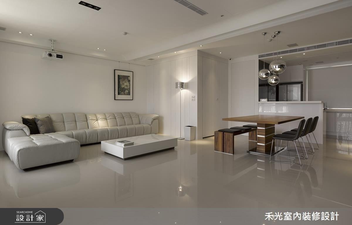 46坪新成屋(5年以下)_簡約風案例圖片_禾光室內裝修設計有限公司_禾光_回之1
