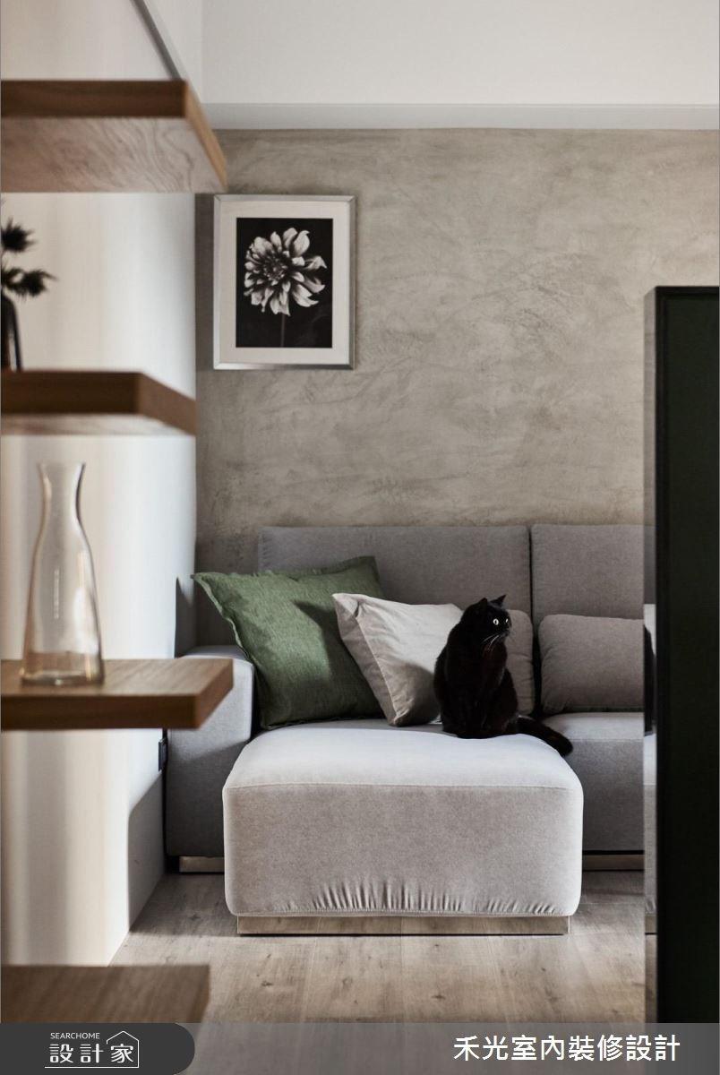 27坪新成屋(5年以下)_北歐風客廳案例圖片_禾光室內裝修設計有限公司_禾光_HAPPY CAT COZY HOME之3