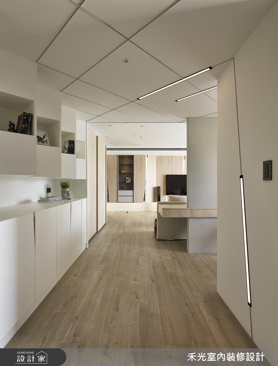 38坪新成屋(5年以下)_簡約風走廊案例圖片_禾光室內裝修設計有限公司_禾光_覺知.光之4
