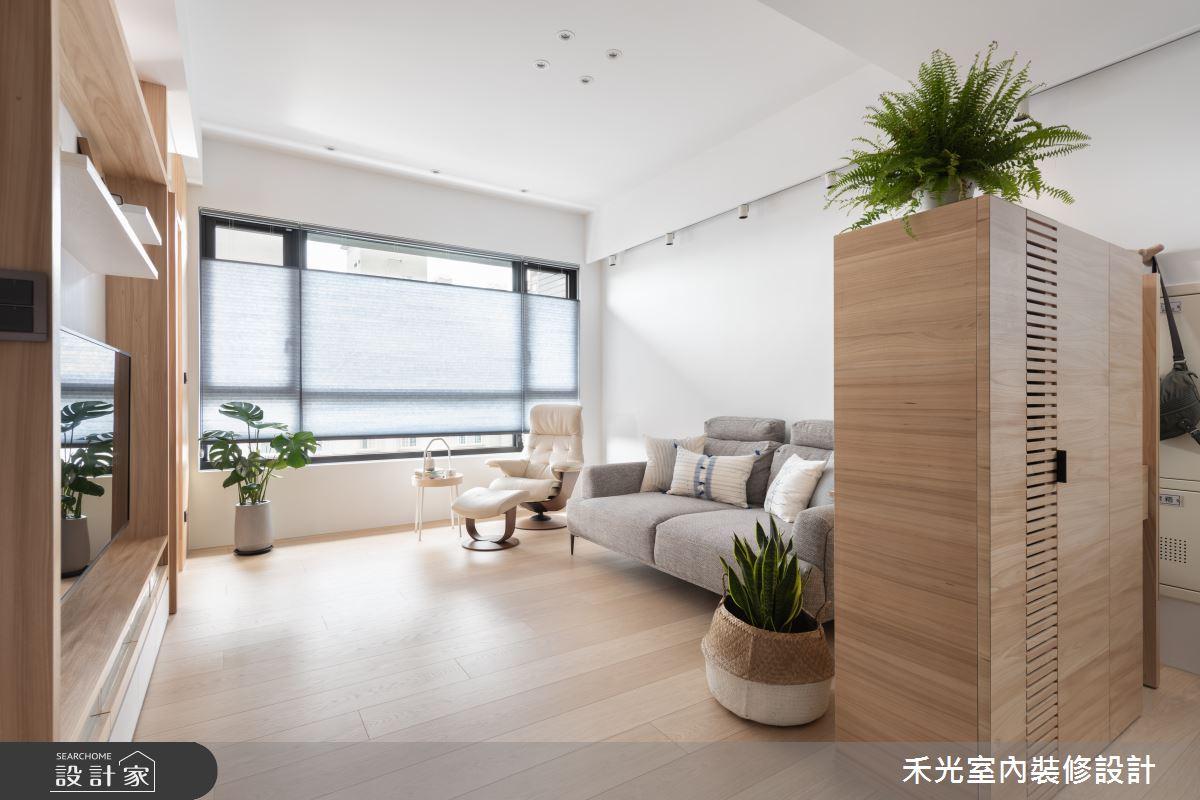23坪新成屋(5年以下)_日式無印風客廳案例圖片_禾光室內裝修設計有限公司_禾光_蘊韻 -- 侘寂之美之4