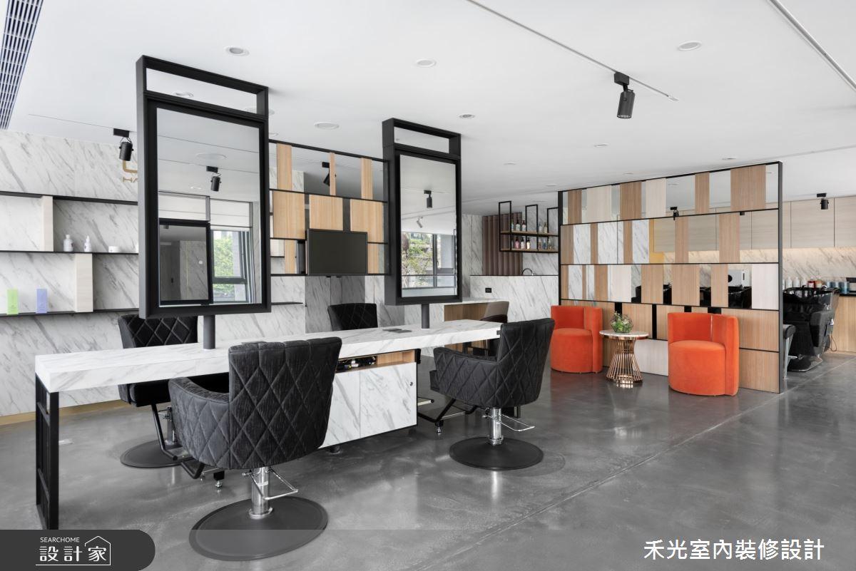 80坪新成屋(5年以下)_現代風商業空間案例圖片_禾光室內裝修設計有限公司_禾光_髮廊之12