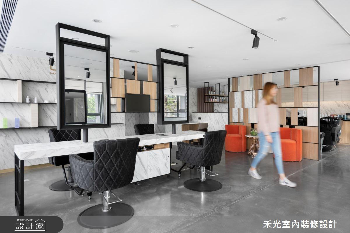 80坪新成屋(5年以下)_現代風商業空間案例圖片_禾光室內裝修設計有限公司_禾光_髮廊之13