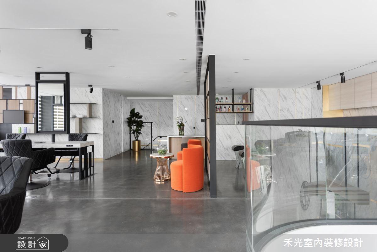 80坪新成屋(5年以下)_現代風商業空間案例圖片_禾光室內裝修設計有限公司_禾光_髮廊之11