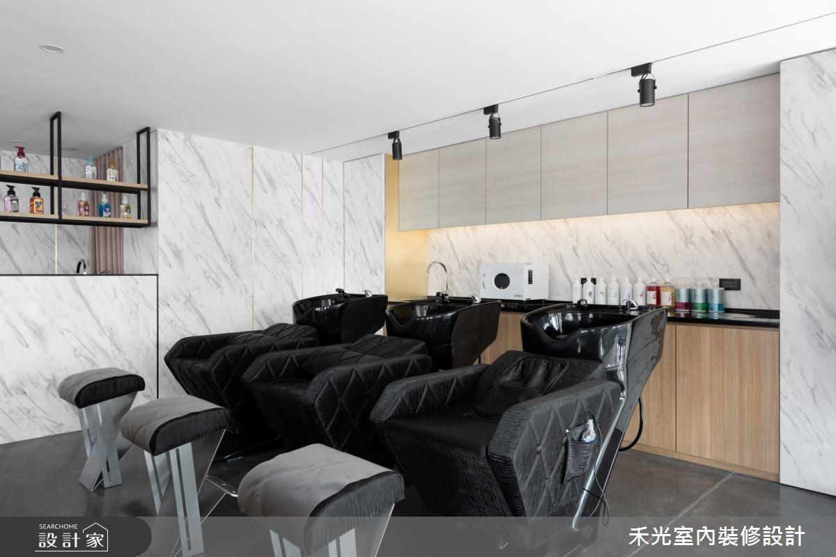 80坪新成屋(5年以下)_現代風商業空間案例圖片_禾光室內裝修設計有限公司_禾光_髮廊之18