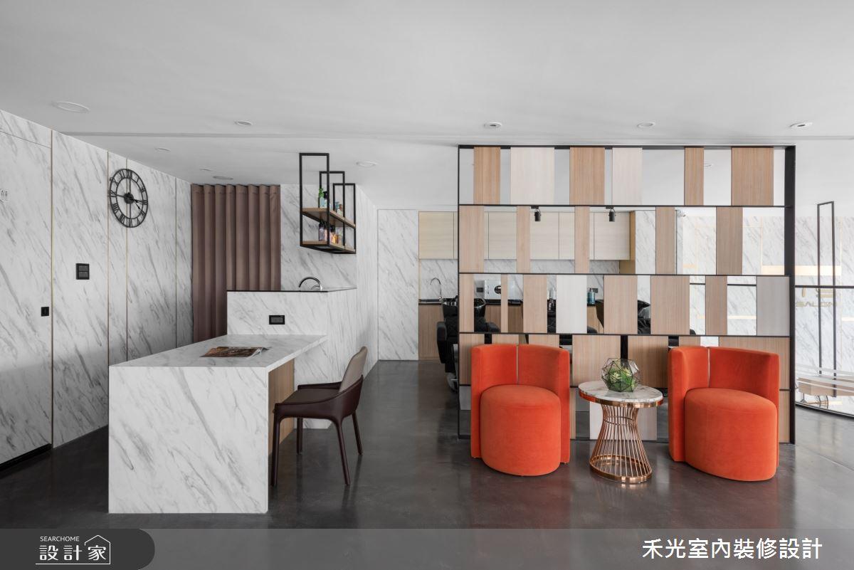 80坪新成屋(5年以下)_現代風商業空間案例圖片_禾光室內裝修設計有限公司_禾光_髮廊之16