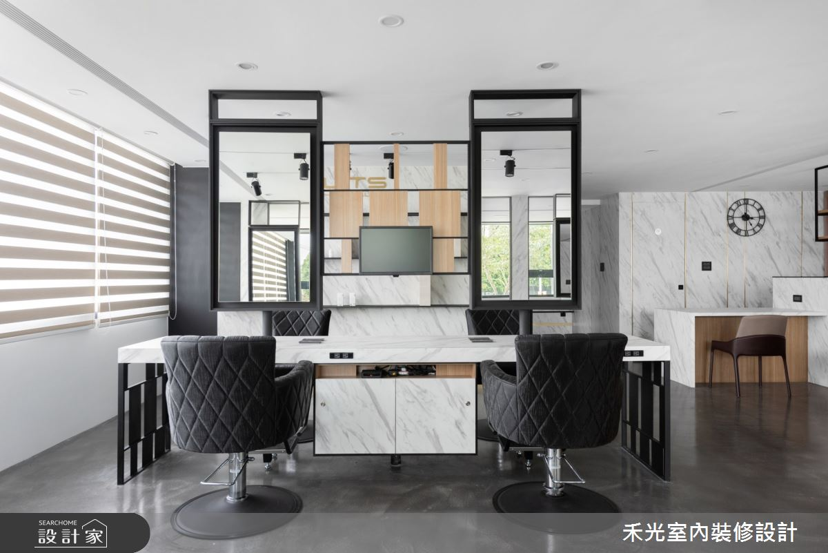 80坪新成屋(5年以下)_現代風商業空間案例圖片_禾光室內裝修設計有限公司_禾光_髮廊之15