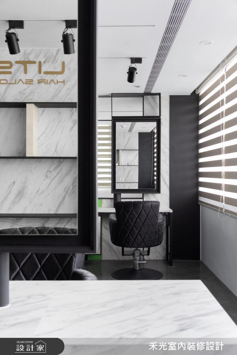 80坪新成屋(5年以下)_現代風商業空間案例圖片_禾光室內裝修設計有限公司_禾光_髮廊之14
