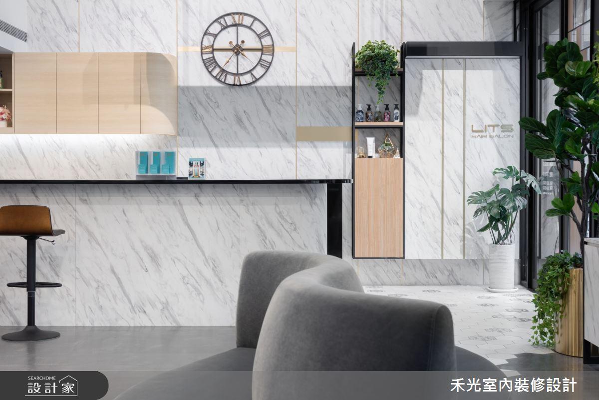 80坪新成屋(5年以下)_現代風商業空間案例圖片_禾光室內裝修設計有限公司_禾光_髮廊之3