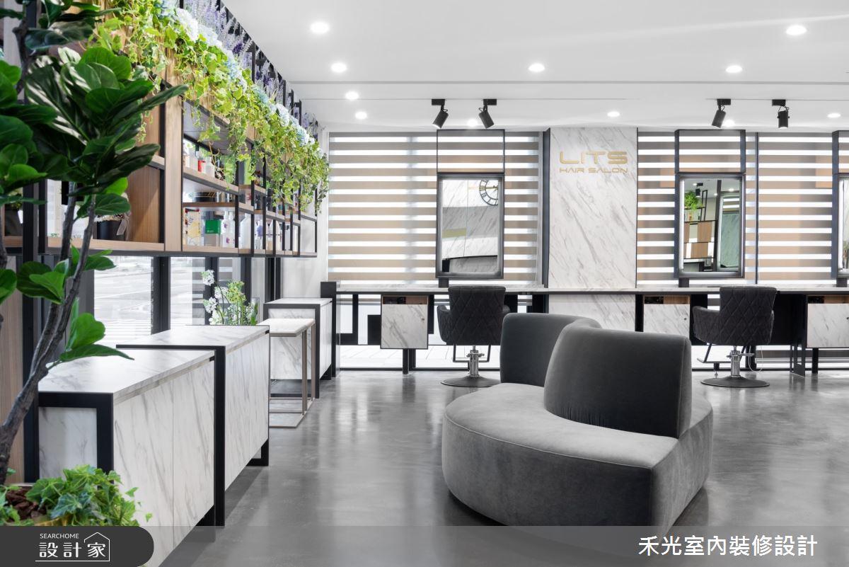 80坪新成屋(5年以下)_現代風商業空間案例圖片_禾光室內裝修設計有限公司_禾光_髮廊之9