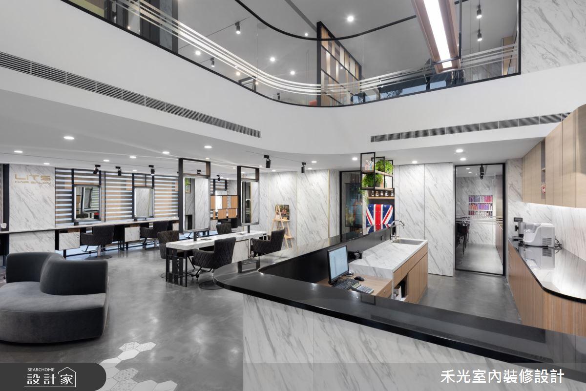 80坪新成屋(5年以下)_現代風商業空間案例圖片_禾光室內裝修設計有限公司_禾光_髮廊之7