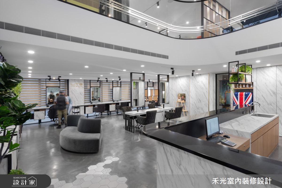 80坪新成屋(5年以下)_現代風商業空間案例圖片_禾光室內裝修設計有限公司_禾光_髮廊之8