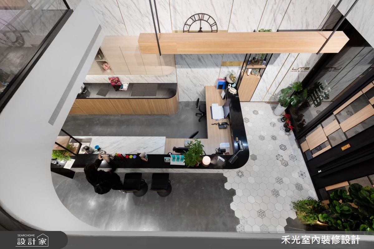 80坪新成屋(5年以下)_現代風商業空間案例圖片_禾光室內裝修設計有限公司_禾光_髮廊之10