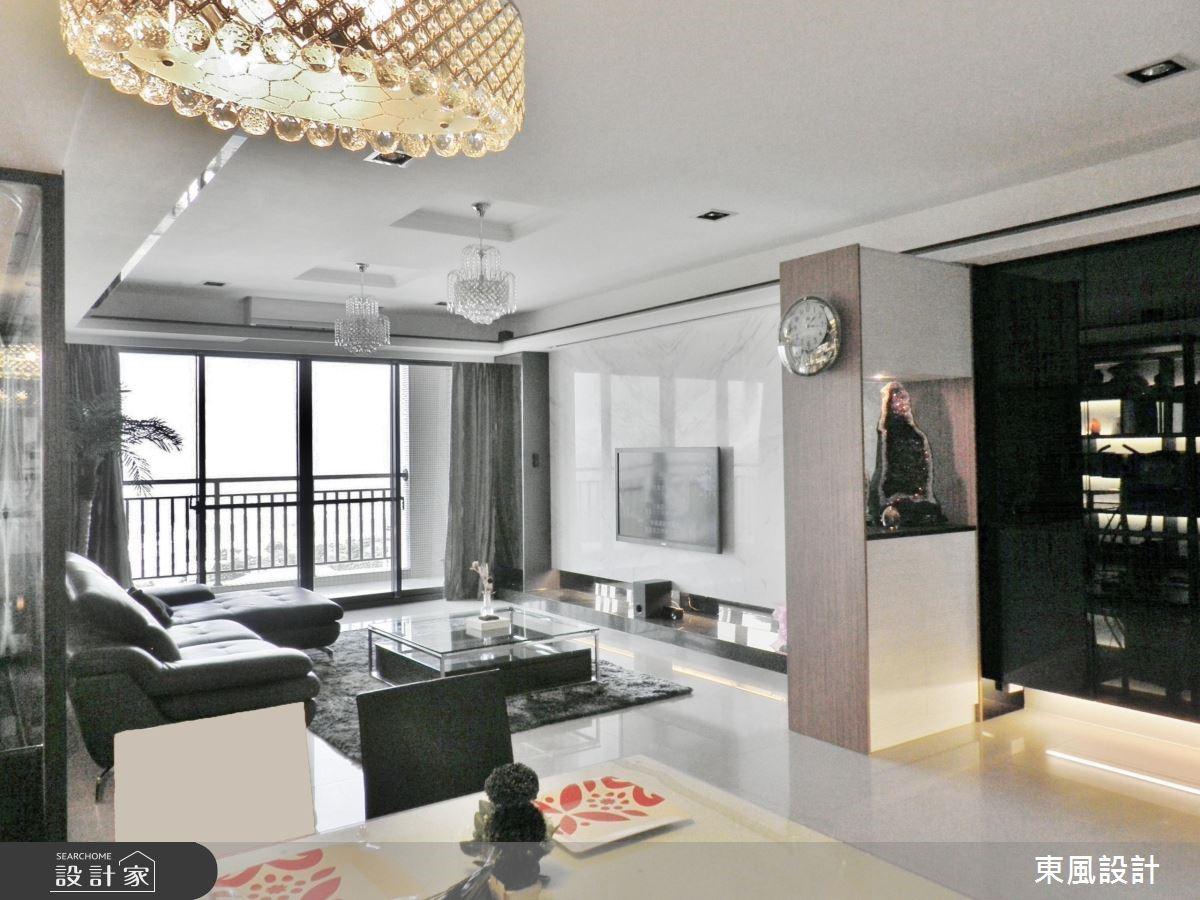 50坪新成屋(5年以下)_奢華風客廳案例圖片_東風室內設計_東風_01之1