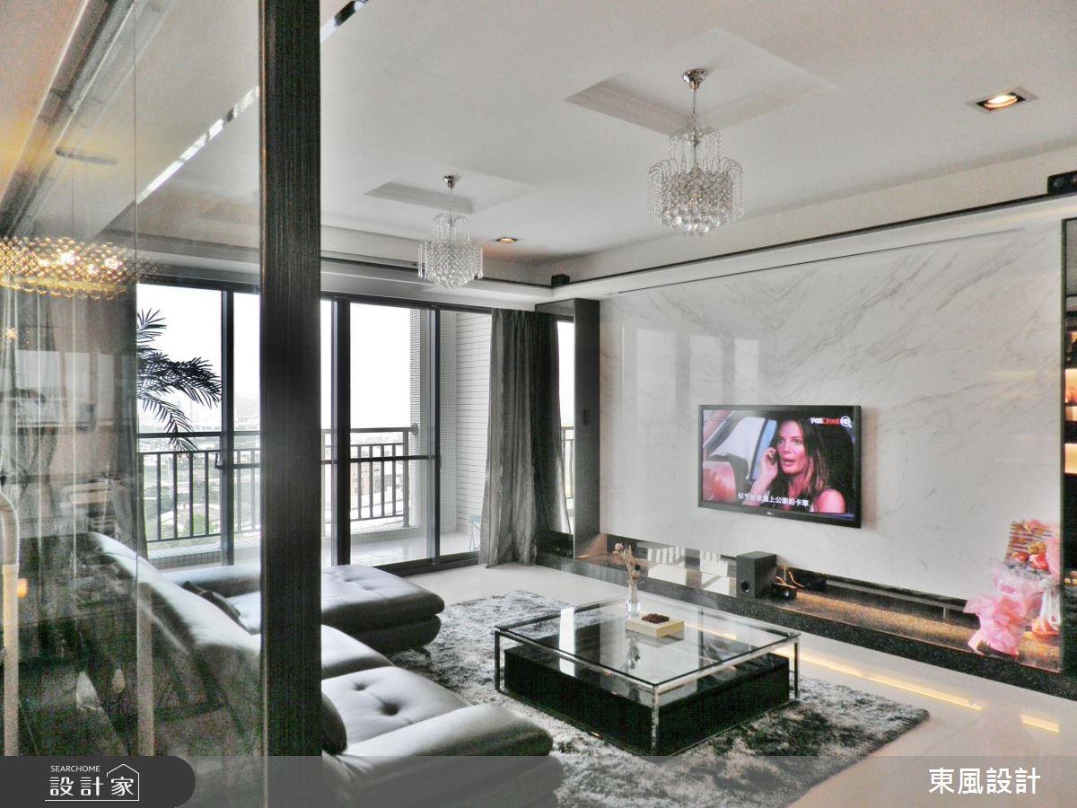 50坪新成屋(5年以下)_奢華風客廳案例圖片_東風室內設計_東風_01之2
