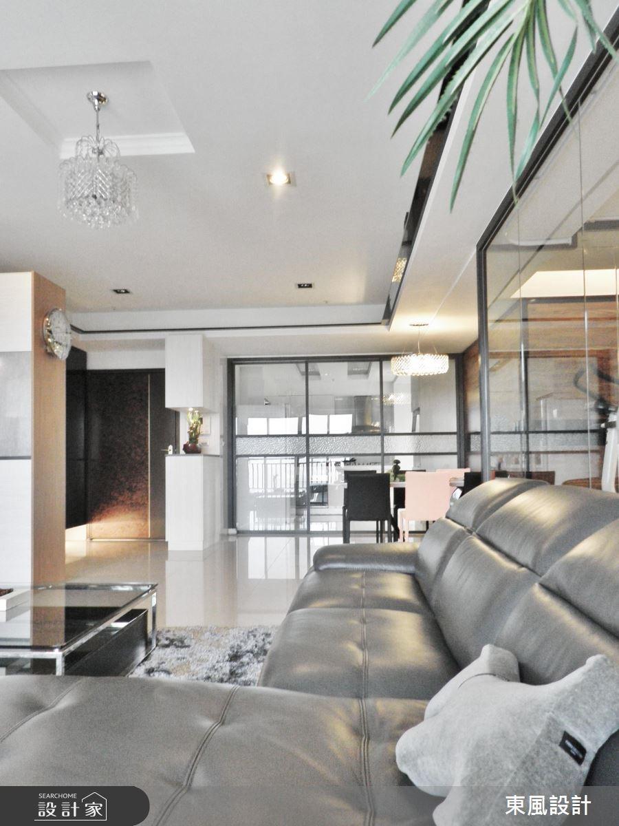 50坪新成屋(5年以下)_奢華風客廳案例圖片_東風室內設計_東風_01之6