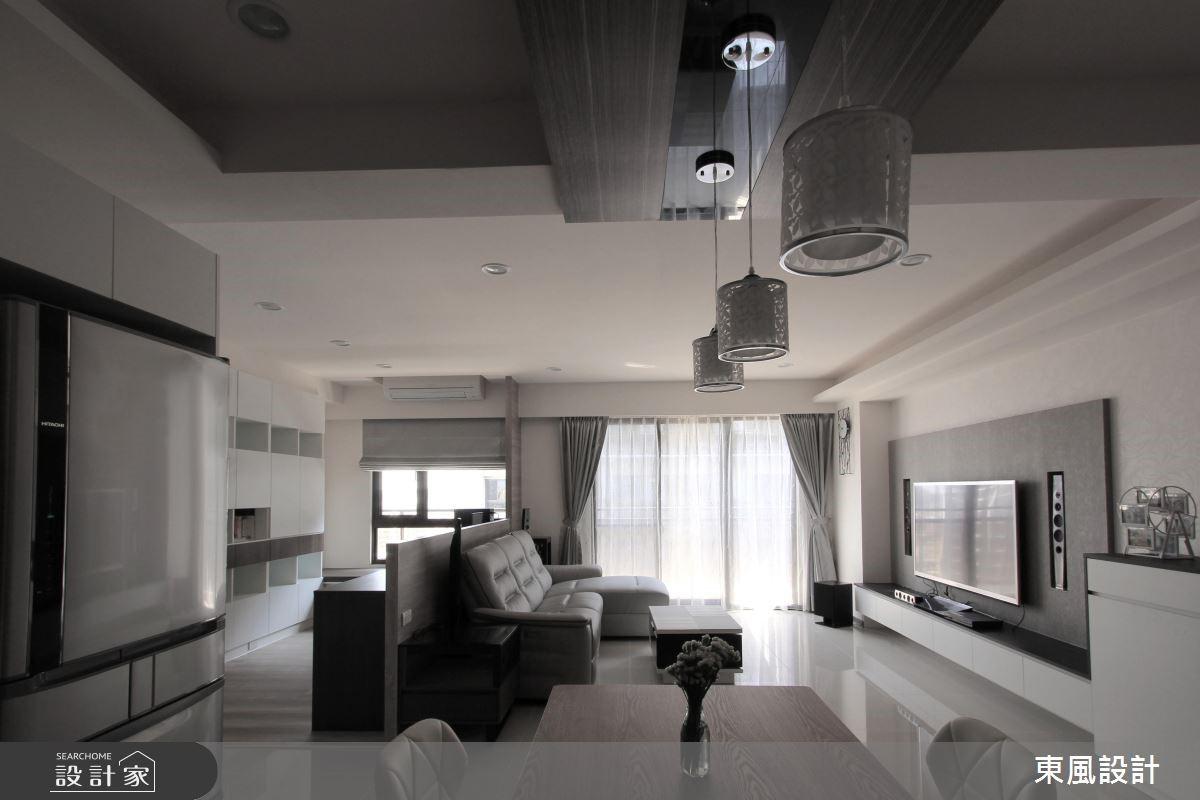 28坪新成屋(5年以下)_簡約風客廳案例圖片_東風室內設計_東風_02之2