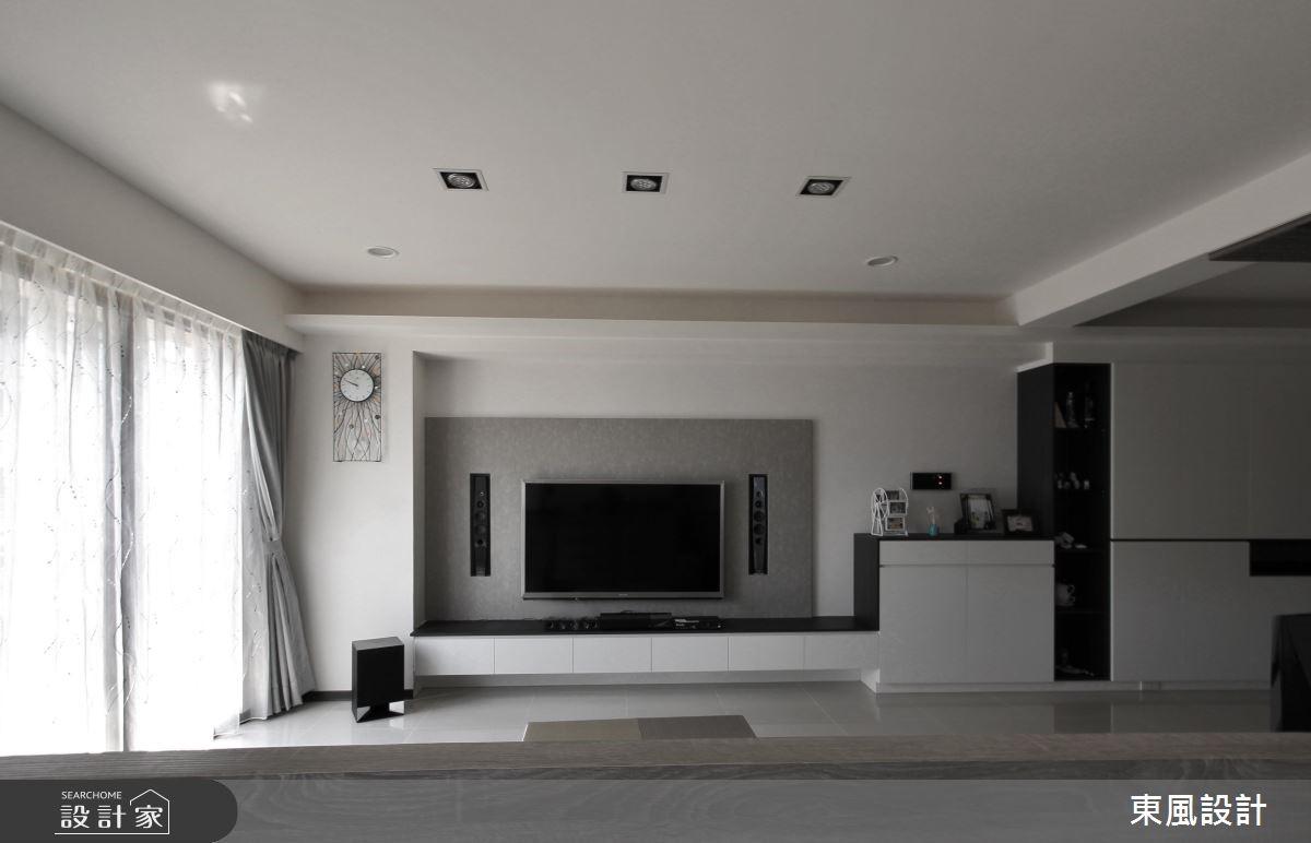 28坪新成屋(5年以下)_簡約風客廳案例圖片_東風室內設計_東風_02之4
