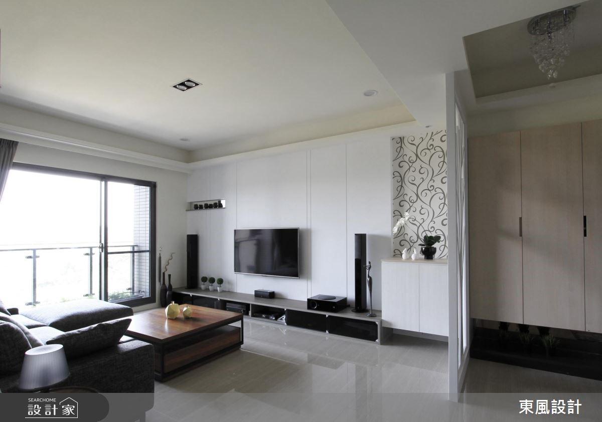 30坪新成屋(5年以下)_療癒風客廳案例圖片_東風室內設計_東風_04之1