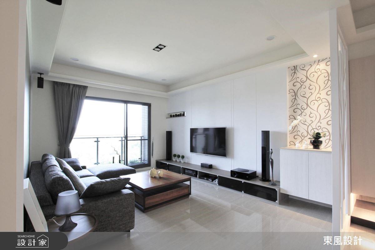 30坪新成屋(5年以下)_療癒風客廳案例圖片_東風室內設計_東風_04之3