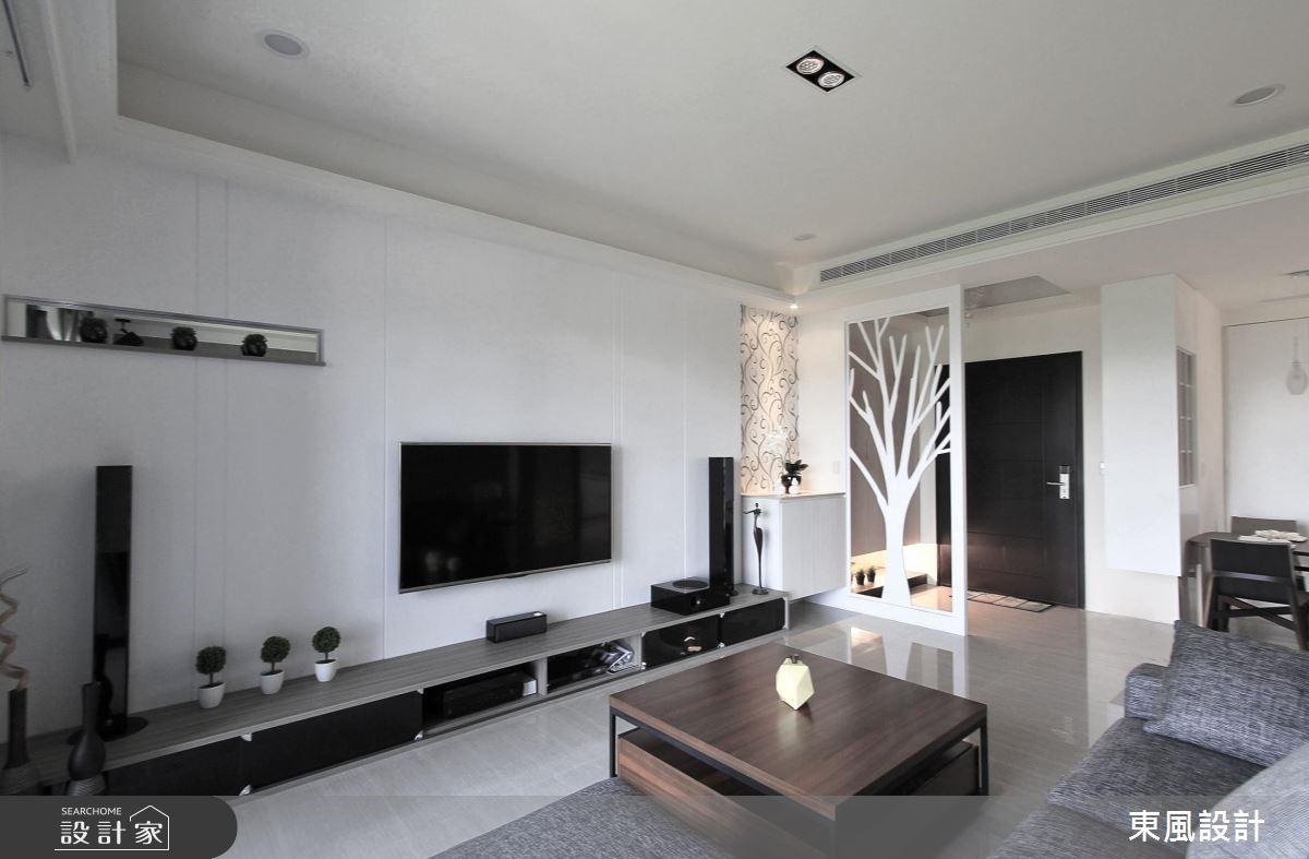 30坪新成屋(5年以下)_療癒風客廳案例圖片_東風室內設計_東風_04之4