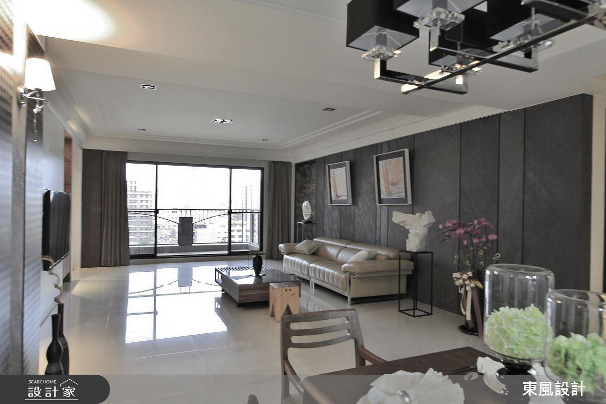 100坪新成屋(5年以下)_新古典客廳案例圖片_東風室內設計_東風_05之7