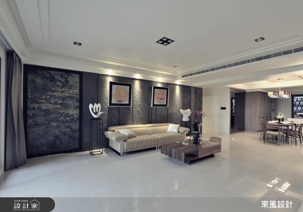 100坪新成屋(5年以下)_新古典客廳案例圖片_東風室內設計_東風_05之2