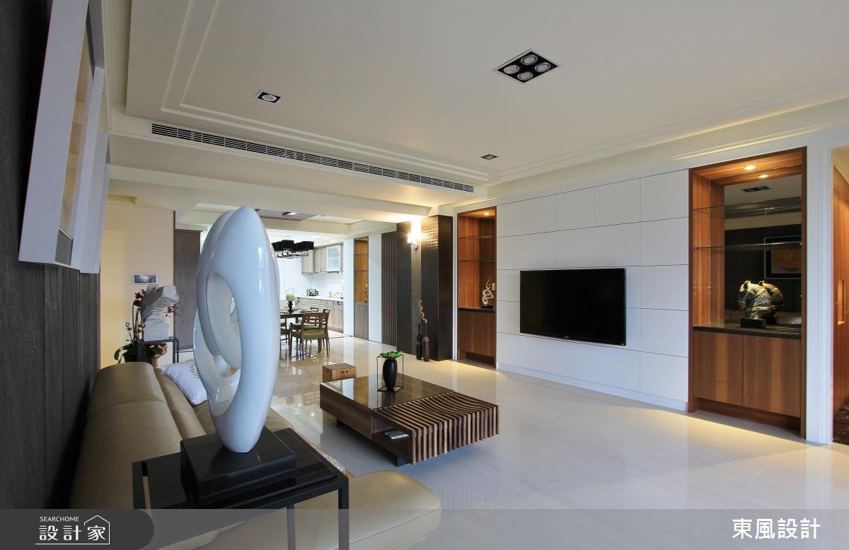 100坪新成屋(5年以下)_新古典客廳案例圖片_東風室內設計_東風_05之3