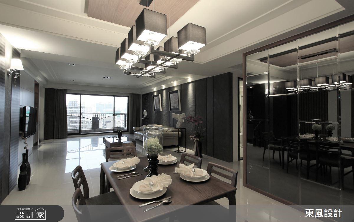 100坪新成屋(5年以下)_新古典餐廳案例圖片_東風室內設計_東風_05之5
