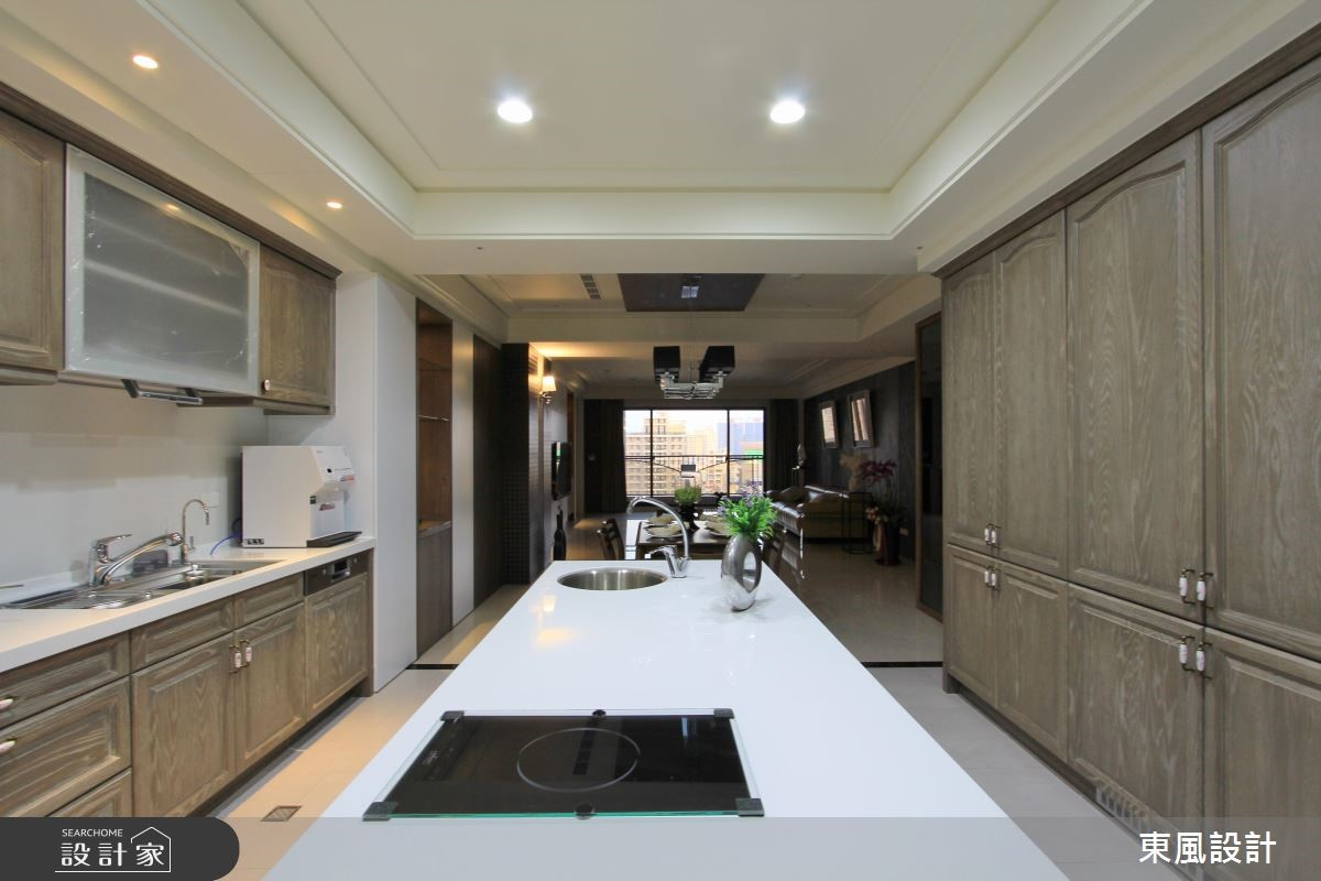 100坪新成屋(5年以下)_新古典廚房案例圖片_東風室內設計_東風_05之9