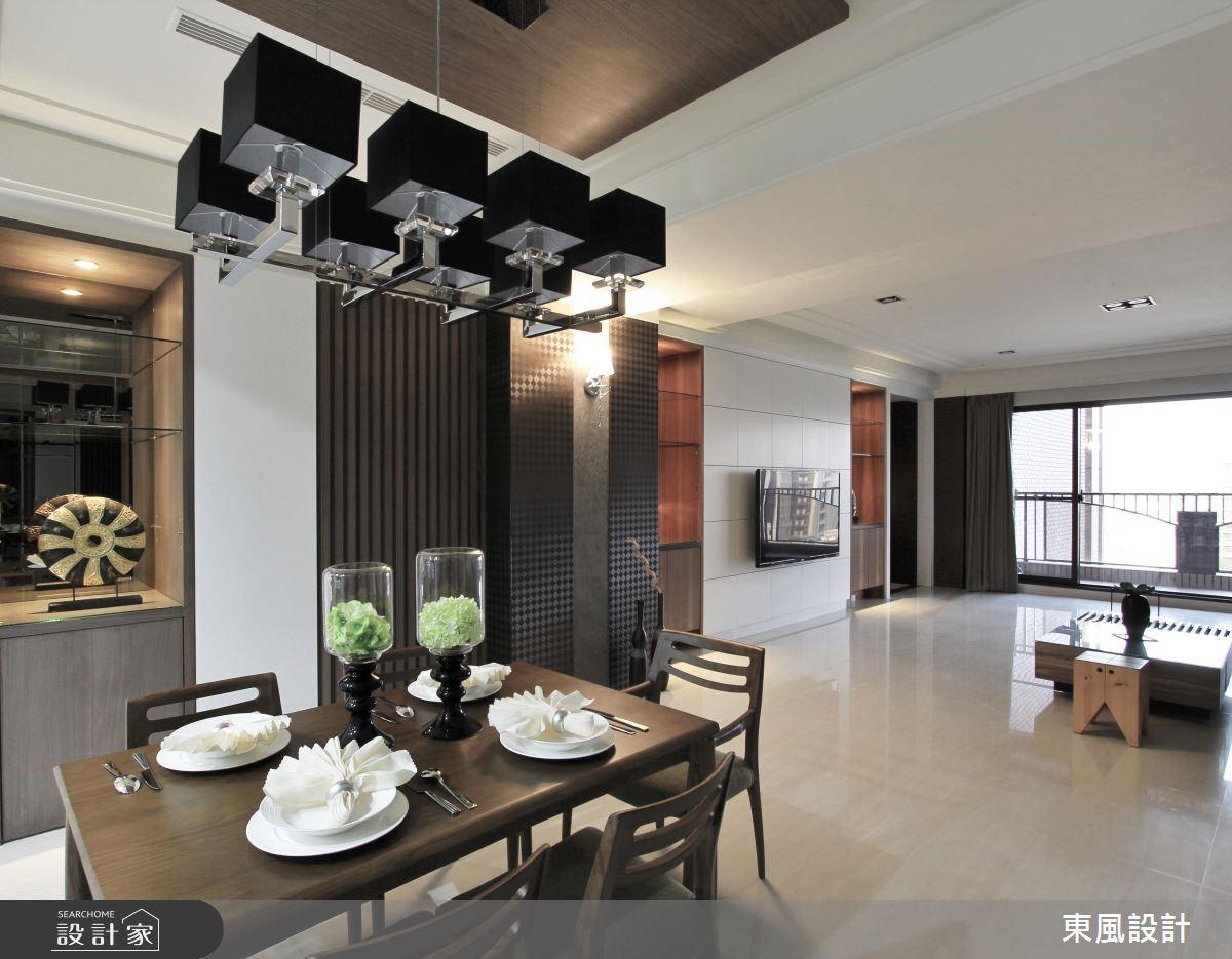 100坪新成屋(5年以下)_新古典餐廳案例圖片_東風室內設計_東風_05之6