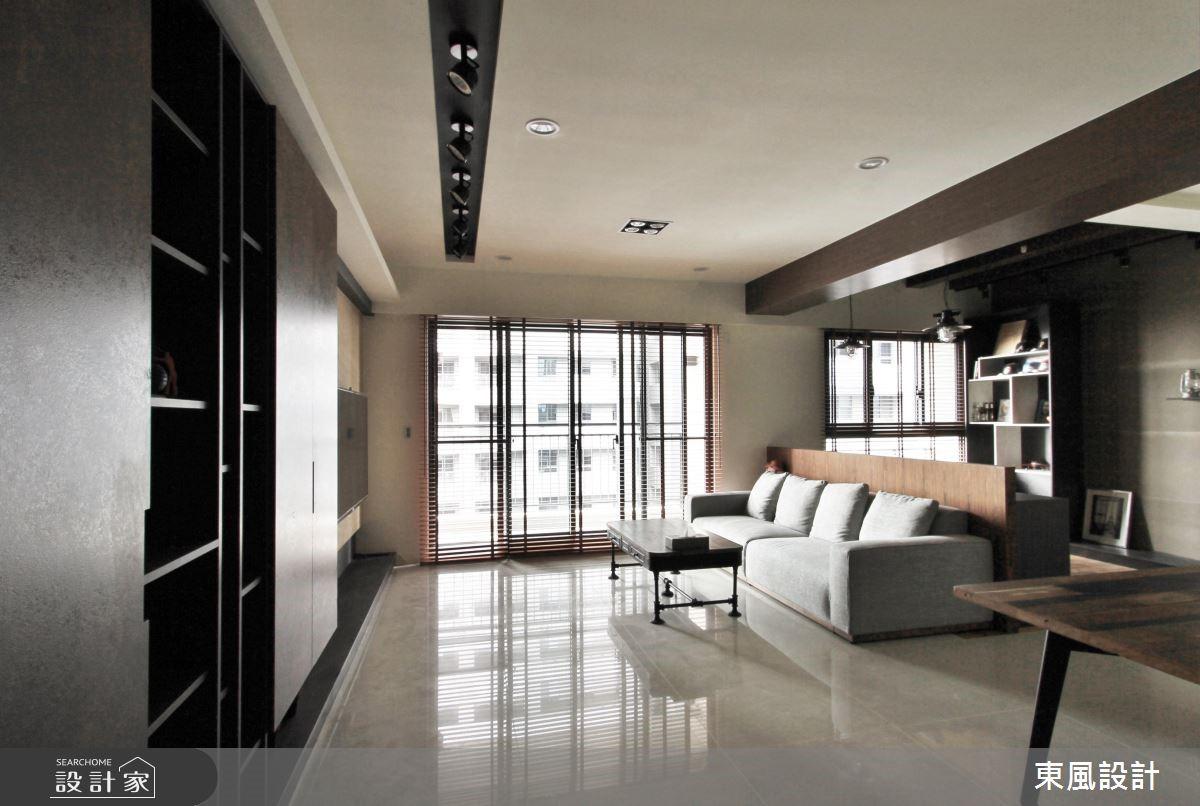 30坪新成屋(5年以下)_工業風客廳案例圖片_東風室內設計_東風_06之2