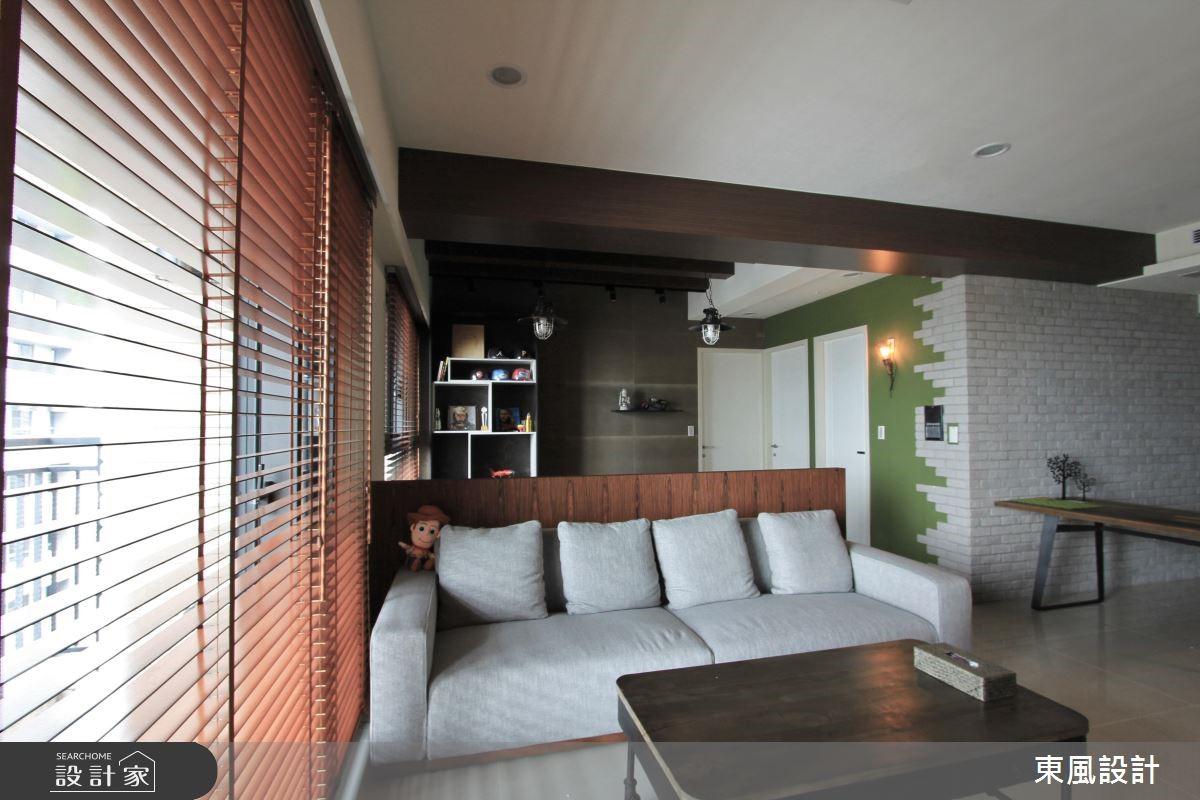30坪新成屋(5年以下)_工業風客廳案例圖片_東風室內設計_東風_06之4