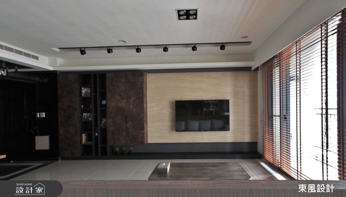 30坪新成屋(5年以下)_工業風客廳案例圖片_東風室內設計_東風_06之3