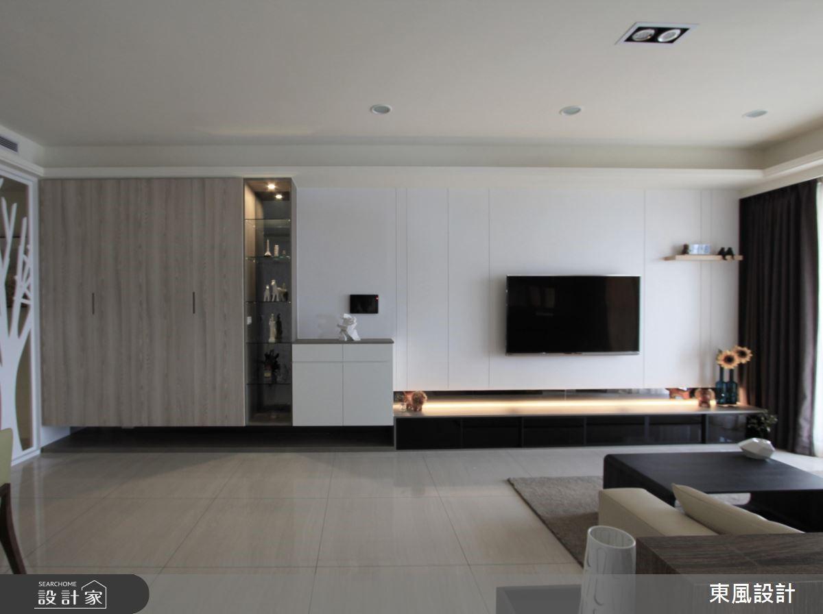 42坪新成屋(5年以下)_北歐風客廳案例圖片_東風室內設計_東風_07之3