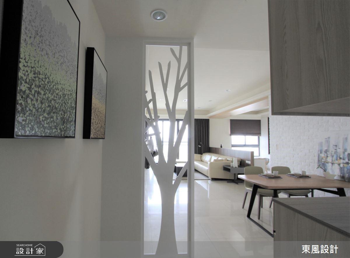 42坪新成屋(5年以下)_北歐風玄關案例圖片_東風室內設計_東風_07之1
