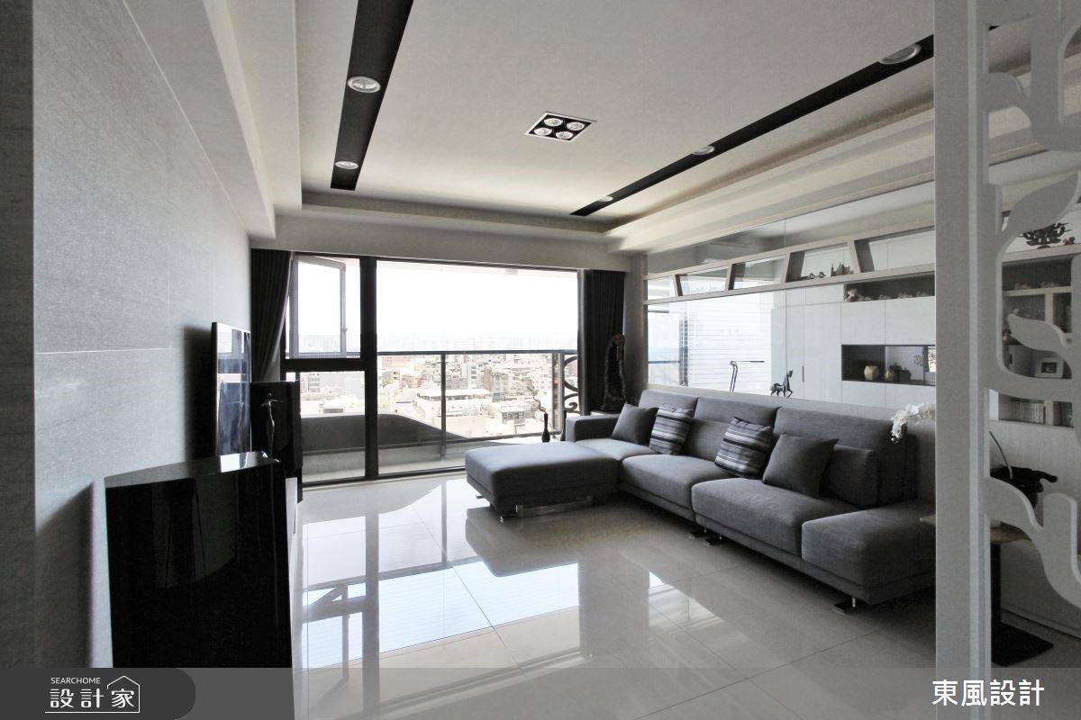 50坪新成屋(5年以下)_現代風客廳案例圖片_東風室內設計_東風_12之2