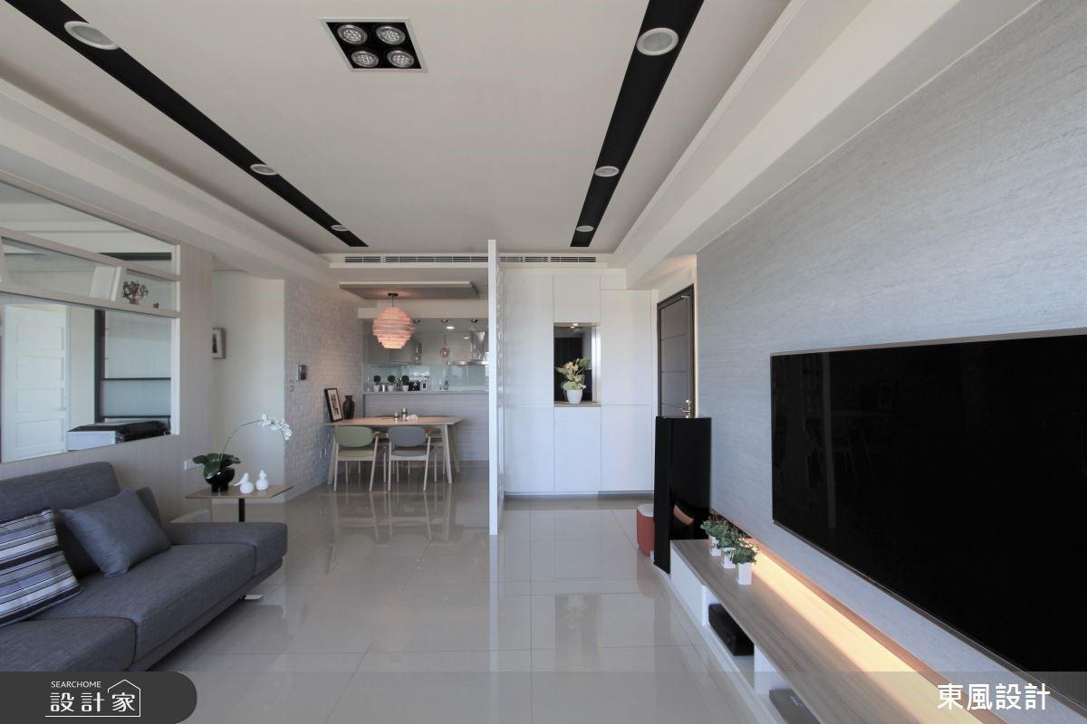 50坪新成屋(5年以下)_現代風客廳案例圖片_東風室內設計_東風_12之4