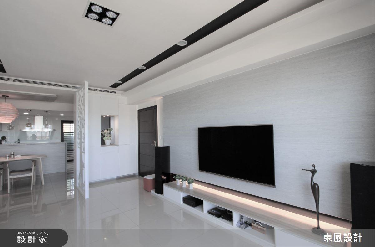 50坪新成屋(5年以下)_現代風客廳案例圖片_東風室內設計_東風_12之3