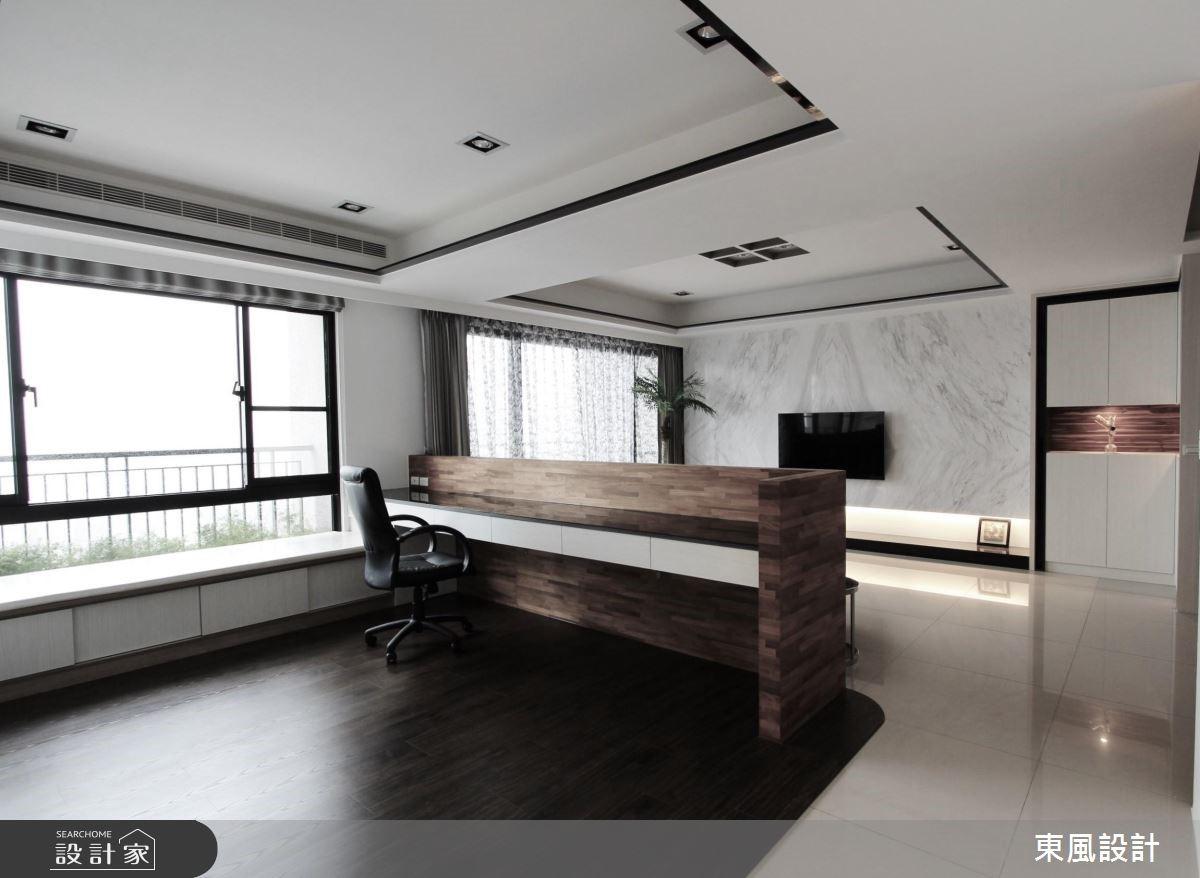 50坪新成屋(5年以下)_現代風書房案例圖片_東風室內設計_東風_13之7