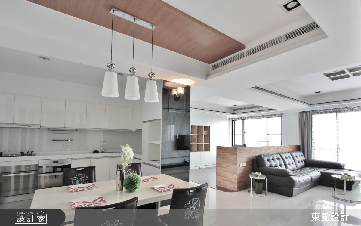 50坪新成屋(5年以下)_現代風餐廳案例圖片_東風室內設計_東風_13之8
