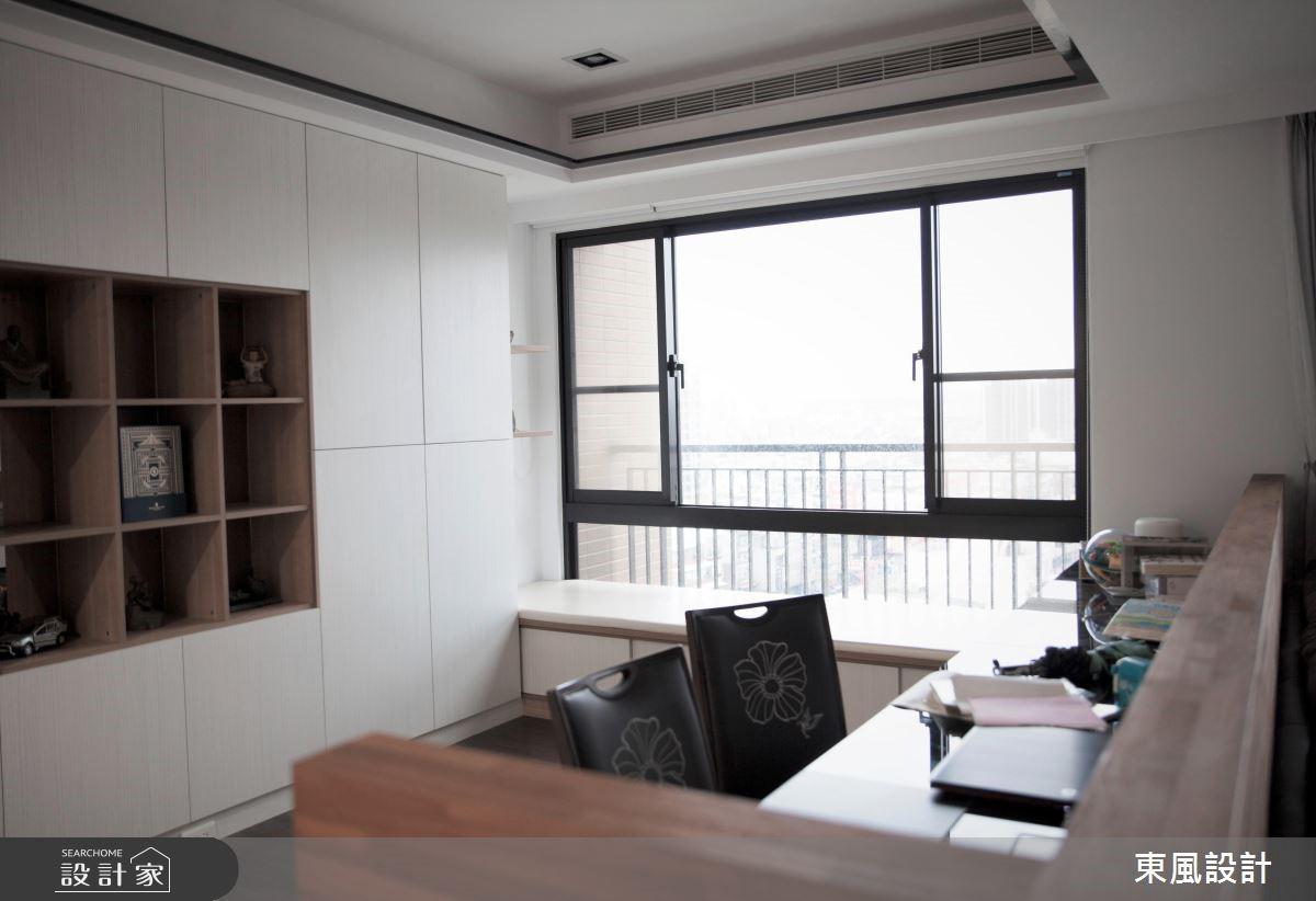 50坪新成屋(5年以下)_現代風書房案例圖片_東風室內設計_東風_13之6
