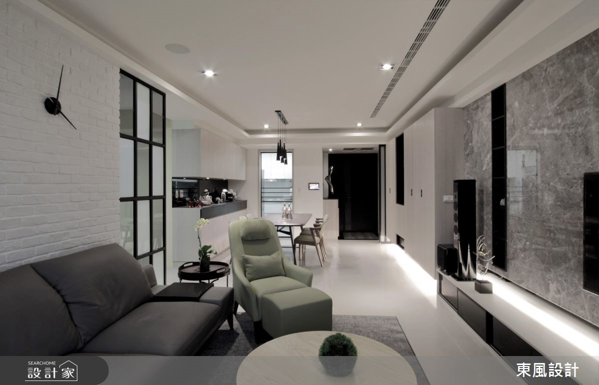 35坪新成屋(5年以下)_現代風客廳案例圖片_東風室內設計_東風_14之3