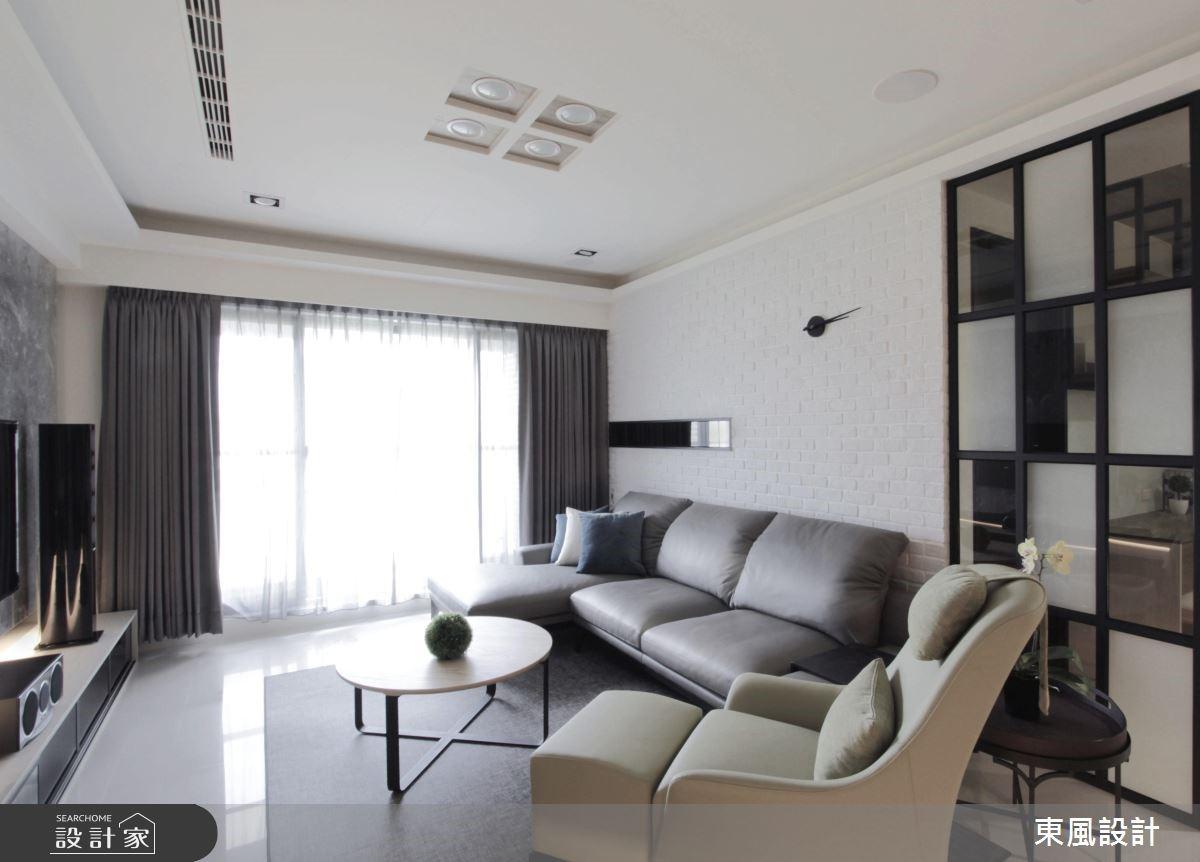 35坪新成屋(5年以下)_現代風客廳案例圖片_東風室內設計_東風_14之2