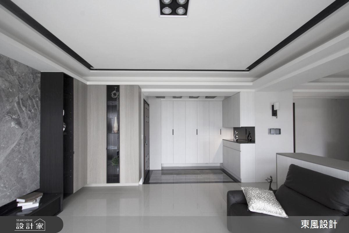 50坪新成屋(5年以下)_現代風玄關客廳案例圖片_東風室內設計_東風_15之2