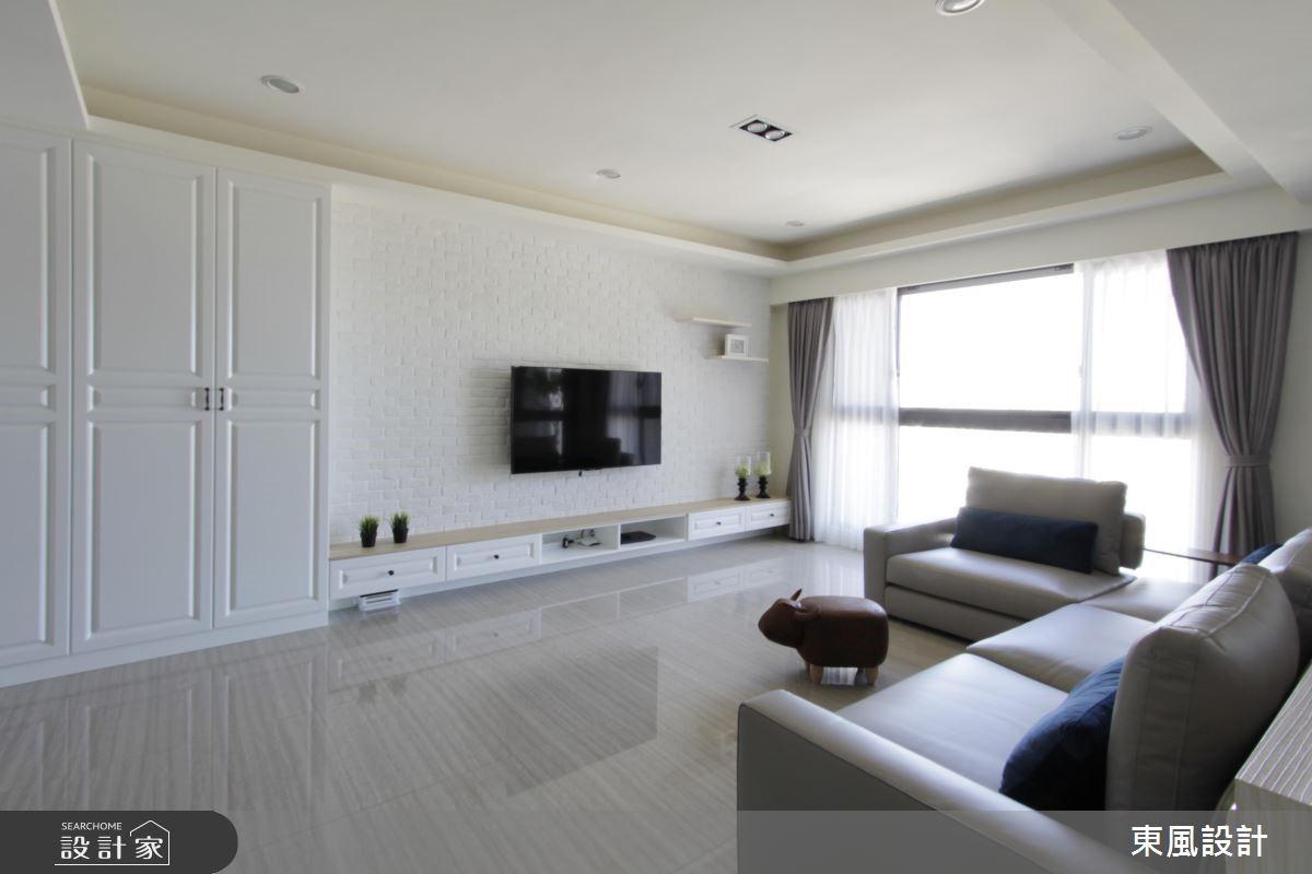 35坪新成屋(5年以下)_美式風客廳案例圖片_東風室內設計_東風_17之2