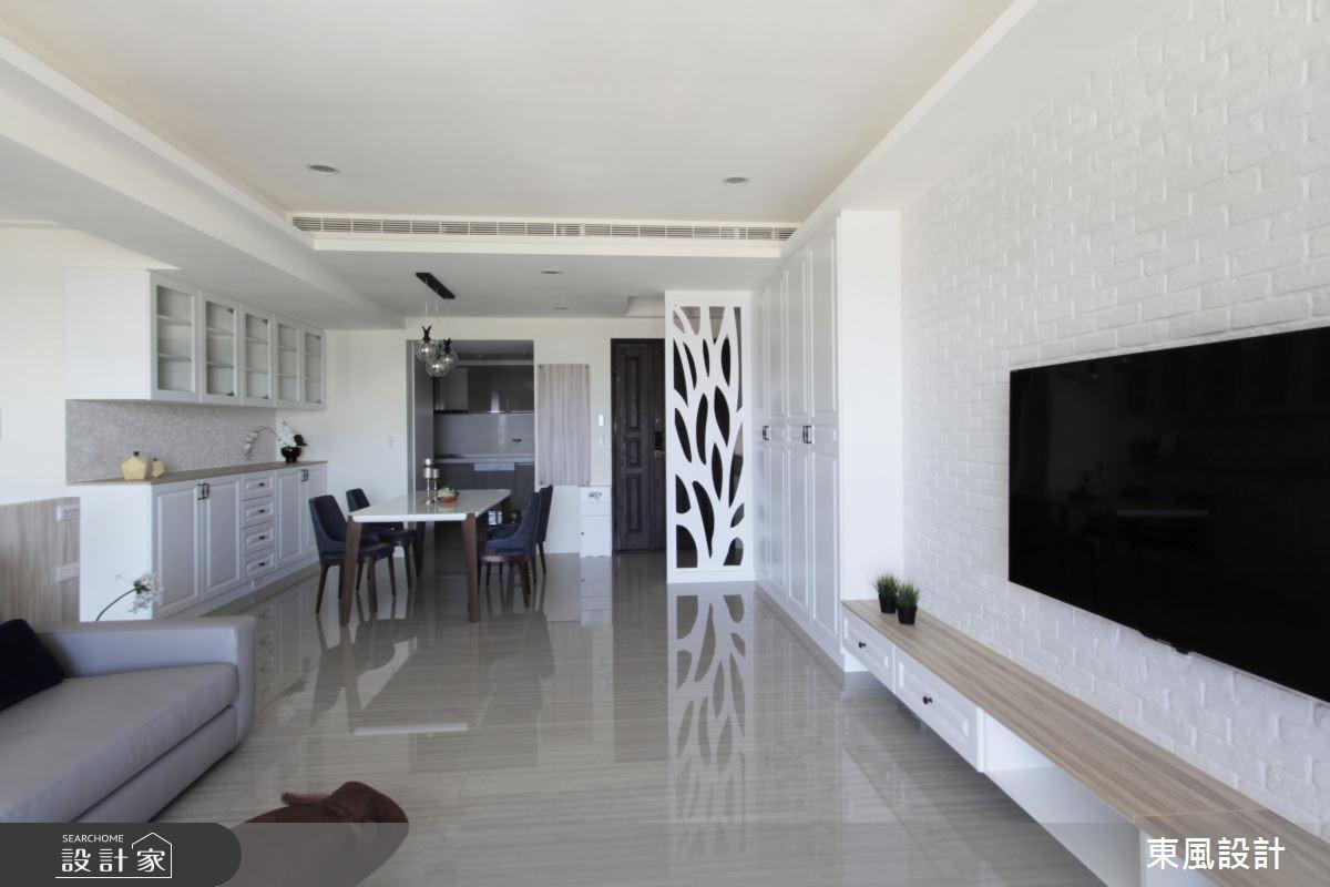 35坪新成屋(5年以下)_美式風客廳餐廳案例圖片_東風室內設計_東風_17之3