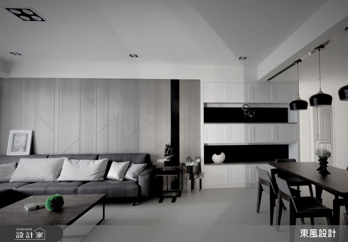 50坪新成屋(5年以下)_現代風客廳案例圖片_東風室內設計_東風_10之3