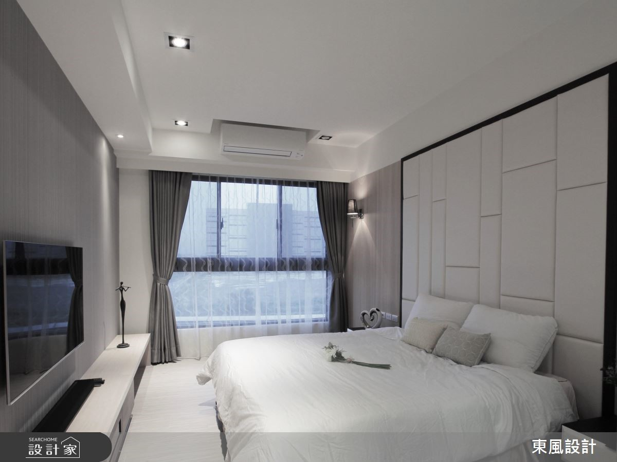 50坪新成屋(5年以下)_現代風臥室案例圖片_東風室內設計_東風_10之7