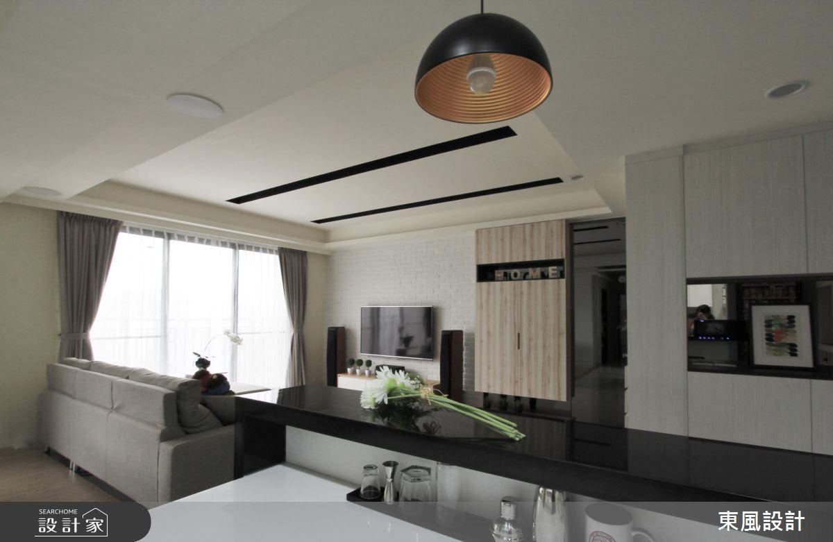 40坪新成屋(5年以下)_北歐風客廳案例圖片_東風室內設計_東風_20之2