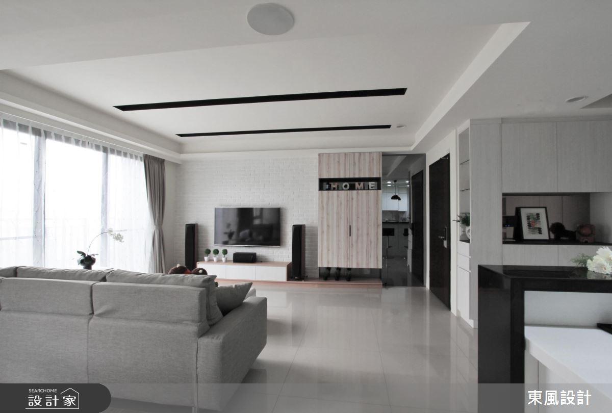 40坪新成屋(5年以下)_北歐風客廳案例圖片_東風室內設計_東風_20之3